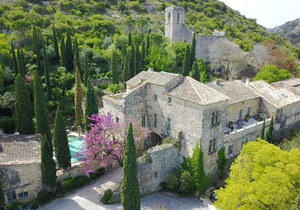 Magical chateau with 10 bedrooms and large pool on the edge of Provence between Avignon and Uzes